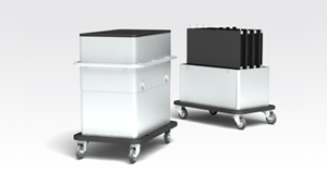 Vorschaubild LED-PANEL TRANSPORTWAGEN NML CARRIER Sunion - Produktdesign von burmeister industrial design