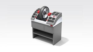 Vorschaubild DYNAMISCHER MOTORRAD WUCHTBOCK BIKEBOSS Haweka - Produktdesign von burmeister industrial design